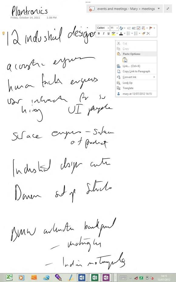 Office 2013 review OneNote hidden interface